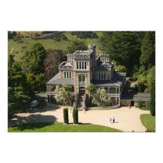 Larnach Castle, Dunedin, New Zealand - aerial Photographic Print