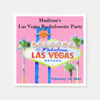 Las Vegas Bachelorette Party Disposable Napkins