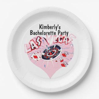 Las Vegas Bachelorette Party Paper Plate