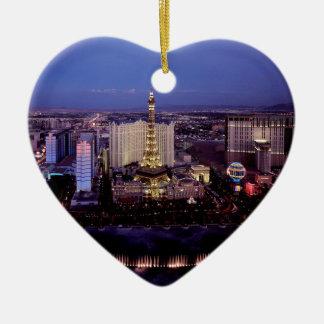 Las Vegas by Night 3 Christmas Ornament