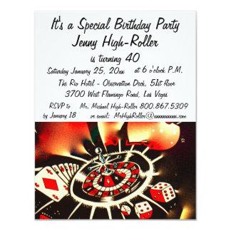 Las Vegas Casino Birthday Celebration Card
