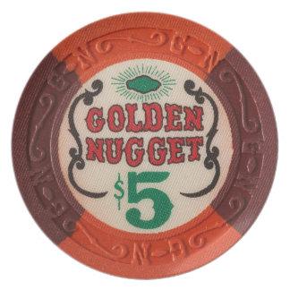 Las Vegas Casino Vintage Poker Chip Decoration Plate
