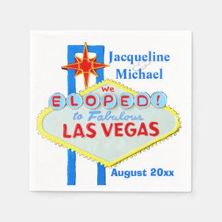 Las Vegas Elope Announcement Disposable Napkin