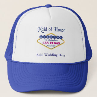Las Vegas Maid of Honor Hat. Trucker Hat