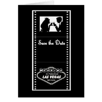 Las Vegas Movie Film Save the Date Card