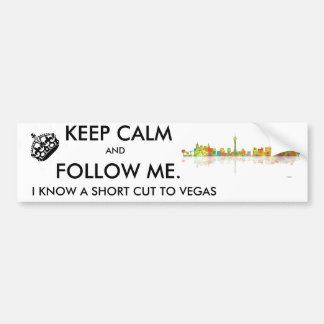 LAS VEGAS, NEVADA SKYLINE - Car Bumper Sticker