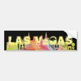 LAS VEGAS, NEVADA SKYLINE WB1 - BUMPER STICKER