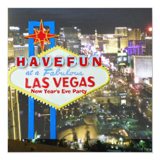 Las Vegas New Year's Eve Party Card