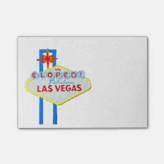 Las Vegas Newlyweds Elope Post-it Notes