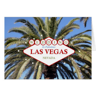 Las Vegas Palm Tree WEDDING Card