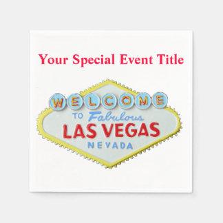 Las Vegas Paper Napkin