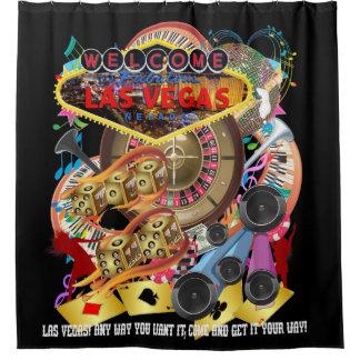 Las Vegas Shower Curtain Collection Black