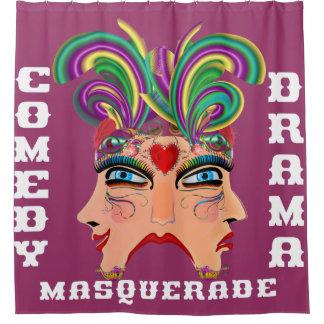 Las Vegas Shower Curtain Collection Crimson