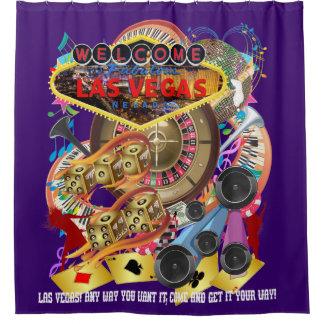 Las Vegas Shower Curtain Collection Deep Purple
