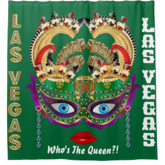 Las Vegas Shower Curtain Collection Forest Green