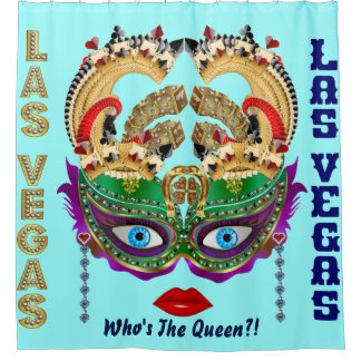 Las Vegas Shower Curtain Collection Ice Blue