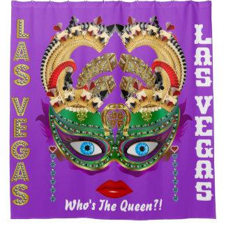 Las Vegas Shower Curtain Collection Majestic Purpl