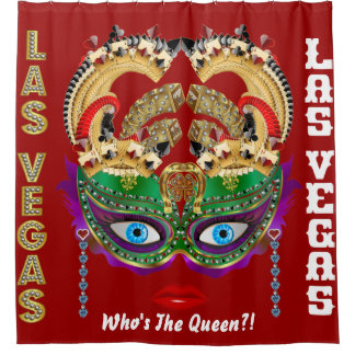 Las Vegas Shower Curtain Collection Ruby Red