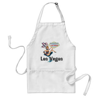 Las Vegas Showgirl and Sign Standard Apron