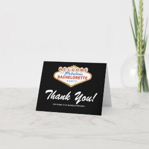 Las Vegas Sign Bachelorette Party Thank You Card