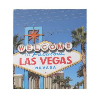 Las Vegas Sign Nevada Casino Gambling Landmark Notepad