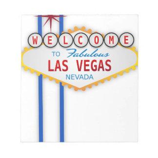 Las Vegas Sign Usa America Casino Gambling Games Notepad