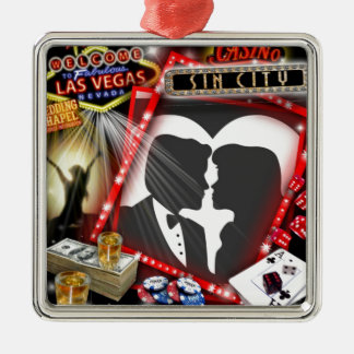Las Vegas Sin City wedding Design Christmas Ornament