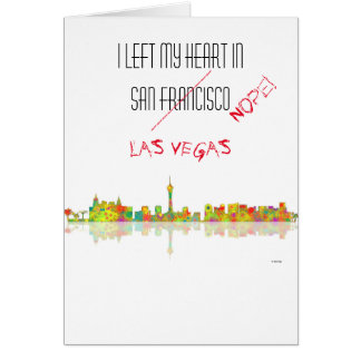 Las Vegas Skyline Card