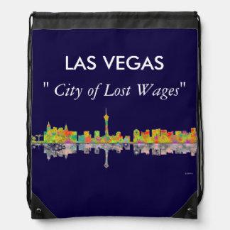 Las Vegas Skyline Drawstring Bag