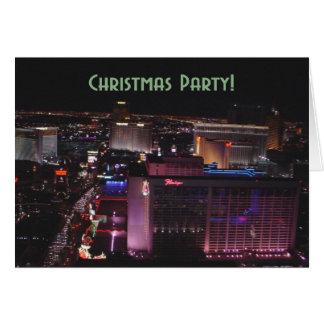 Las Vegas Strip Christmas Party Invitaiton Card