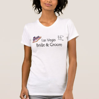 Las Vegas Toothpick Bride & Groom Ladies Tee