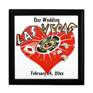 Las Vegas Valentine Wedding Large Square Gift Box