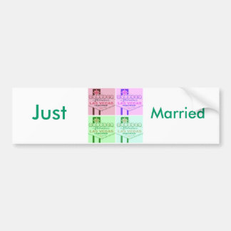 Las Vegas Wedding Bumper Sticker