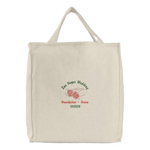 Las Vegas Wedding - Grandfather - Groom Tote Embroidered Bag