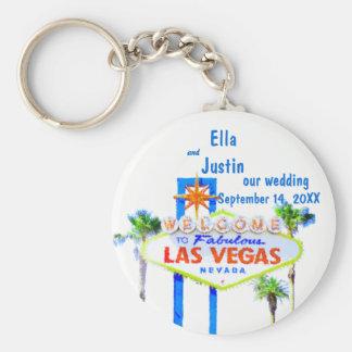 Las Vegas Wedding Memento Basic Round Button Key Ring