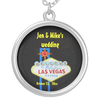 Las Vegas Wedding Memento Silver Plated Necklace