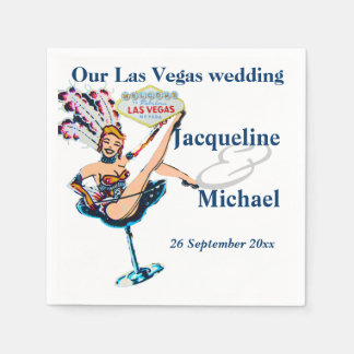 Las Vegas Wedding Party Paper Napkin