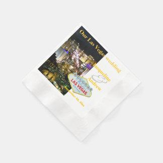 Las Vegas Wedding Personalized Disposable Napkins