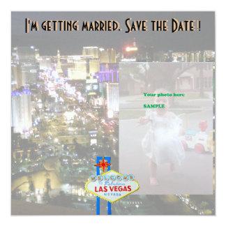 Las Vegas Wedding Save the Date Photo Card