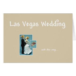 Las Vegas Wedding, with this ring, Bride & Groom C Card