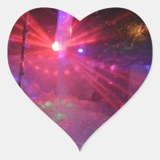laser dance explosion heart sticker
