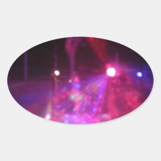 laser excitement oval sticker