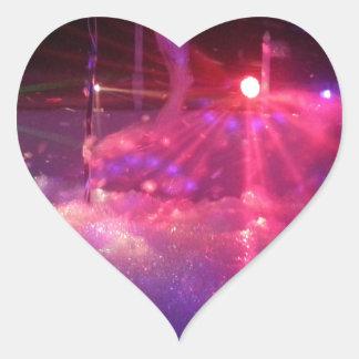 Laser Foam Party fun Heart Sticker