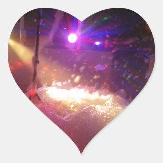 Laser Foam Party Heart Sticker