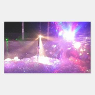 Laser Foam Party Rectangular Sticker