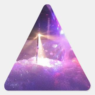 Laser Foam Party Triangle Sticker