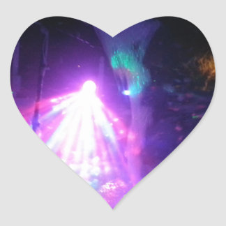 laser fun express heart sticker
