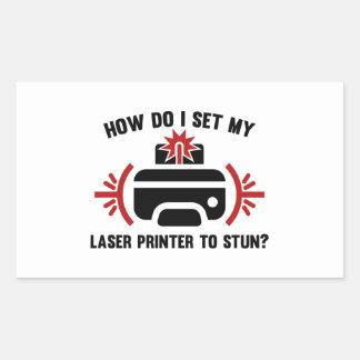 Laser Printer Rectangular Sticker