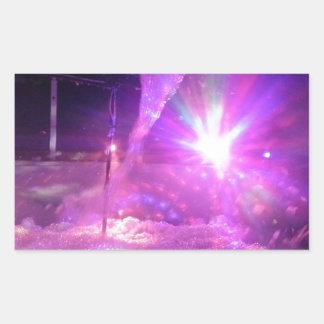 Laser purple blue foam rectangular sticker