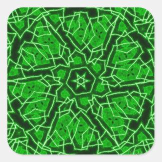 Laser Snowflake Square Sticker